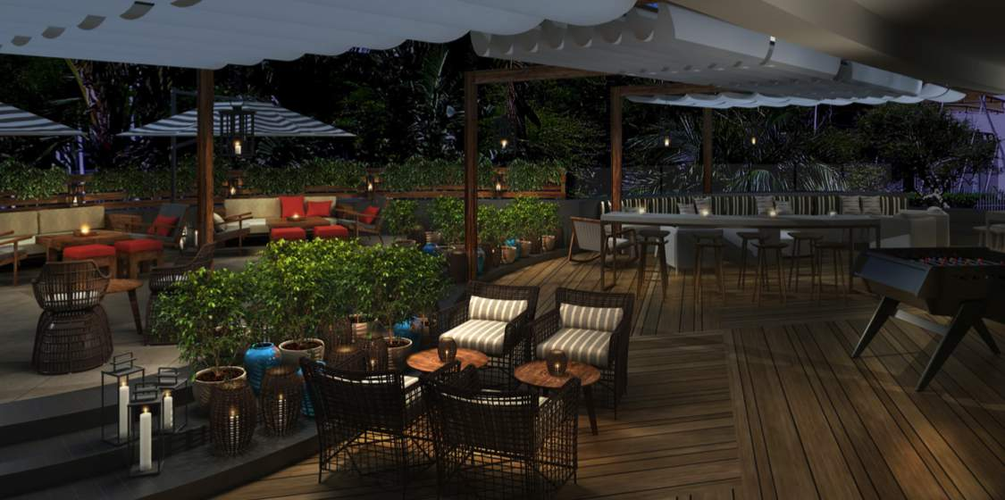New Big Easy Winebar amp Grill opens at Hilton Durban  : Big Easy Durban exterior rendering header from ernieels.com size 1125 x 560 jpeg 75kB
