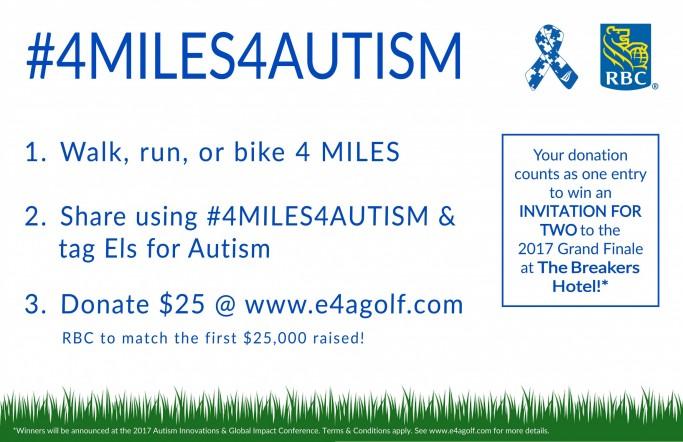 4Miles4Autism single poster